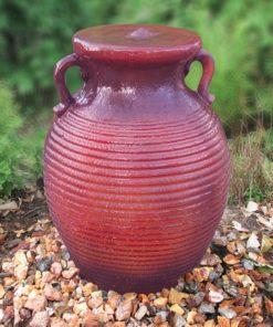 Traditional Crimson Red Vase Fountain