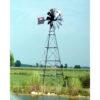 four leg wind pond aeration windmill
