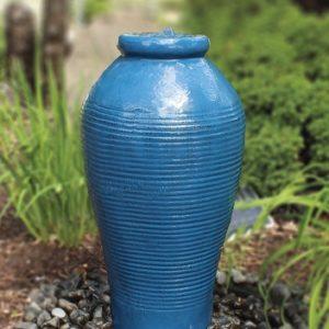 Blue Tall Ripple Vase Fountain