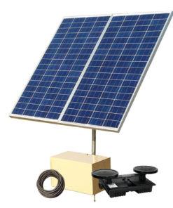 large solar powered pond aerator