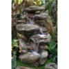 alpine win316 garden fountain rock waterfall