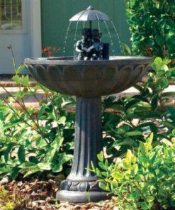 smart solar garden fountain